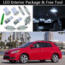 6PCS White LED Interior Car Lights Package kit Fit 2009-2013 Toyota Matrix J1
