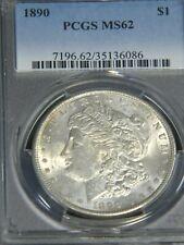 1890 P Morgan Silver Dollar PCGS MS62 White Superb Luster Premium Quality #G626