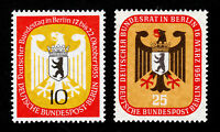 GERMANY SCOTT #9N116 AND #9N119 BERLIN BUNDESTAG MEETING 1955-1956 MNH-OG