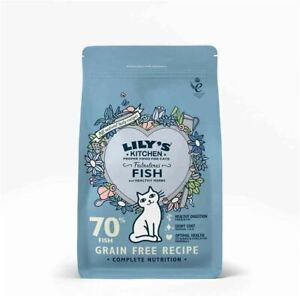 Lilys Kitchen Fabulous Fish Dry Food - Vitamins & Minerals for Adult Cats 800g