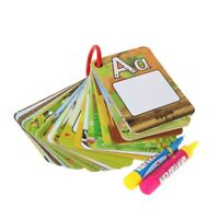 Water Drawing Card 26 Alphabet Coloring Book & 2 Magic Pen Letter Card Paint 6M3