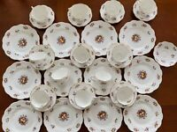 35 PC Set Bone China Coalport for Thomas T. Good London Cup Saucer Dessert Plate