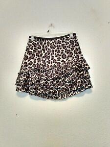 DKNY NEW Women/'s Beige Multi Animal Print Side-ruched A-Line Skirt 2 TEDO