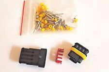 5 Kits 4 Pin way Waterproof  DC Electric Wire Connector Plug