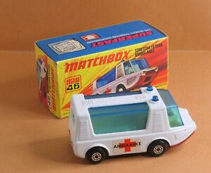 VINTAGE Matchbox by Lesney - Superfast MB 46d Stretcha Fetcha Ambulance