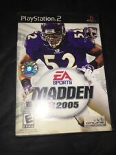 MADDEN 2005 Playstation 2 PS2 Complete CIB w/ Box, Manual Stickers