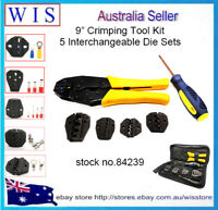 Crimping Tool Kit Terminal Ratchet Plier Crimper with 5 Interchangeable Die Sets