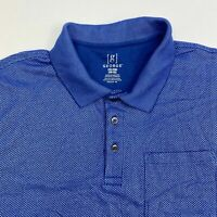 George Golf Polo Shirt Men's Size 2XL XXL Short Sleeve Blue Cotton Blend