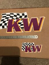 2 X GENUINE KW Suspensions Stickers Decals Motorsport, Drift, Track, Vw