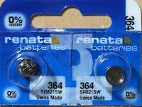 2-Renata 364  Battery SR621SW Silver Oxide. Authorized Seller. Expiration 08/22