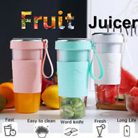 420ML Portable Blender Rechargeable USB Juicer Cup&Bottle Fruit Mixer