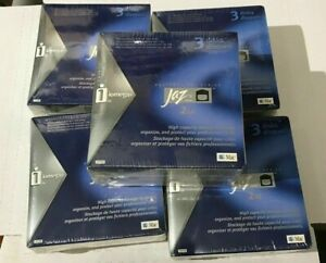 New Sealed IOMEGA Jaz 2GB disks PC MAC Formatted 3 Pack Professional Series