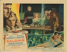 RITA HAYWORTH • SALOME Lobby Card #6  • 1953 •  VF  • w/ S. Granger • Columbia