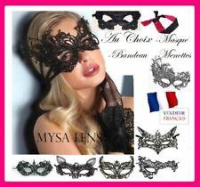 Masques et loups vénitiens pour déguisement et costume d'époque