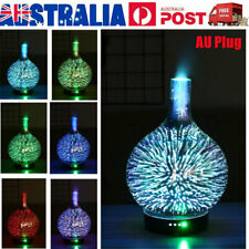 100ml 3D Firework Glass Essential Oil Aroma Diffuser LED Ultrasonic Humidifier