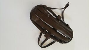 """Vintage Leather """"Hairnet"""" Cycling Helmet, Used with Nice Original Condition"""