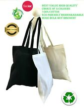Wholesale cheap high quality cotton tote bags 42cm x 38cm pack size 5 to 100