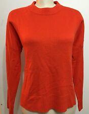 H&M Women Top Shirt Blouse Tangerine Orange Long Sleeve Size Large
