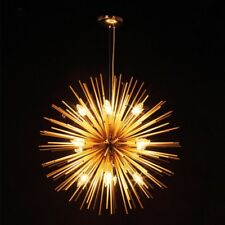 Golden Sputnik Chandelier Lamp Pendant Lighting Ceiling Fixture Living Room Lamp