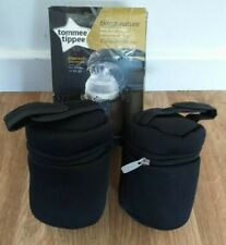Tommee Tippee Baby Bottle Travel Warmer Insulated Bag Closer to Nature Twin Pack