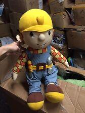 "Playskool BOB THE BUILDER 22"" Plush STUFFED Doll ""Damaged Eye & Screw Driver New"