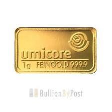 Gold Bullion Bars 1 g Precious Metal Content per Unit