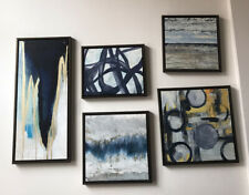 Abstract 5 piece wall art with frame modern chic