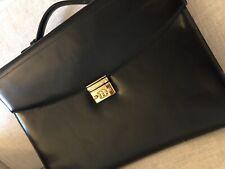 MONTBLANC Meisterstück, Leather Briefcase, Leder-Aktentasche, Schwarz, 40x30cm