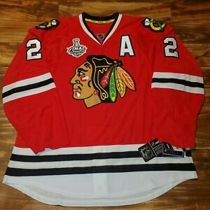 NEW Duncan Keith 2015 Chicago Blackhawks Stanley Cup Reebok Jersey Size 56