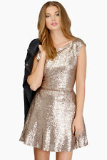 Gold sequin dress from Tobi. New without tags. Size S