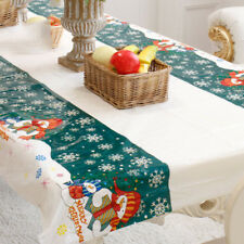 Christmas Disposable Tablecloth Xmas Rectangle Oblong Table Cloth Tableware