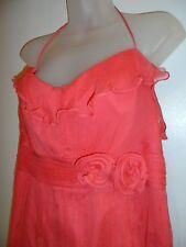 Amsale 18 Halter Dress G586C Pink Silk Formal Wedding Floral Party Summer Sexy