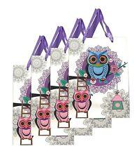 Lagiwa® Lot de 4 Sacs Papier Cadeaux RAYURES BLEU MM 32X26X10cm