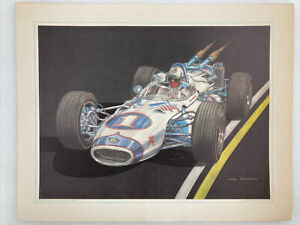 Indy 500 1966 Mario Andretti #1 Print Of Ron Burton Original By Jerry Kenrick A2