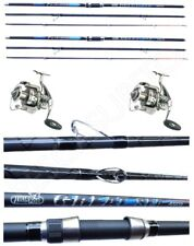 Kit Surfcasting 2 Canne Great Sea + 2 Mulinelli Domino 5000 Pesca Mare Spiaggia