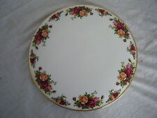 C4 Porcelain Royal Albert Old Country Roses Cake Plate 28cm 9A2G