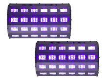 2 X Luz Ibiza LED-UV24 Alta Potencia ultravioleta de luz negra UV inundación Dmx Discoteca DJ