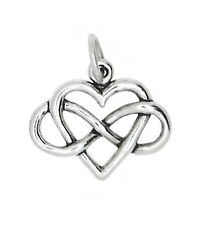 STERLING SILVER HEART WITH INFINITY SYMBOL CHARM PENDANT