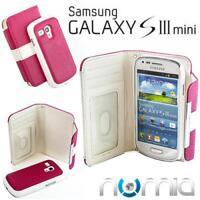 2in1 Schutz Hülle Samsung I8190 Galaxy SIII S3 Mini Pink-Weiss Handy Cover Etui