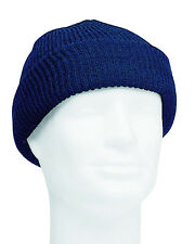 US Army Watch Cap Navy Blue One Size Knit Beanie Cap Marines USMC WWII WW2