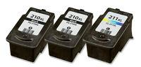 3 PACK PG 210XL CL 211XL Ink for Canon PIXMA MP495 MX320 MX330 MX340 MX350 MX360