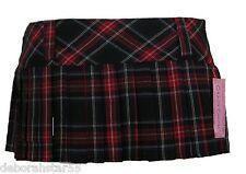 Tartan Skirt Tartain Mini Skirt Pleated Tartan Skirt Micro Mini Skirt 8 10 12 14