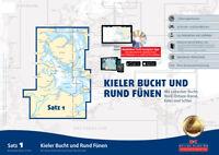 Seekarten Satz 1 Revierführer Seekarte Kieler Bucht Rund Fünen Yacht Navigator
