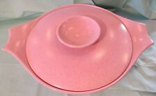 1950's VINTAGE MONTEREY California Pottery Covered Casserole PINK EXCELLENT COND