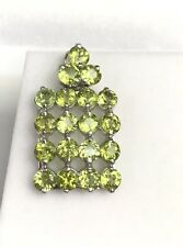 .925 Stealing Silver Cute Square Cluster Pendant With Natural Peridot