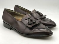 HICKEY FREEMAN Men's Dress Shoes Brown Leather Size 11.5 D Tassel Kilt Loafers