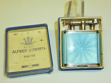 "Dunhill Parker Beacon ""Unique"" Sterling Silver Enamel Lighter-Pat. 143752-RARE"
