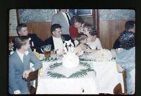 1959  35mm Kodachrome Photo slide Wedding Banquet reception  Beer
