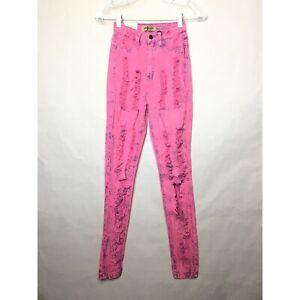 Fashion Nova Aphrodite Pink Acid Wash High Waisted Skinny Jeans - New With Tags