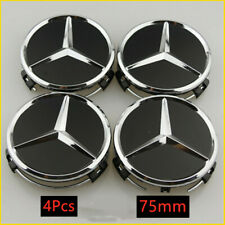 4X 75MM Wheel Center Caps Rim Hub Cap Car Logo Emblem Badge Fits Mercedes Benz